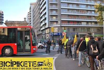 Toma las calles y participa en el BiciPikete del 29M