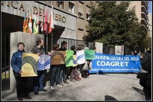 Protesta de Coagret en la sede de la CHE. Foto: Primo Romero (archivo)