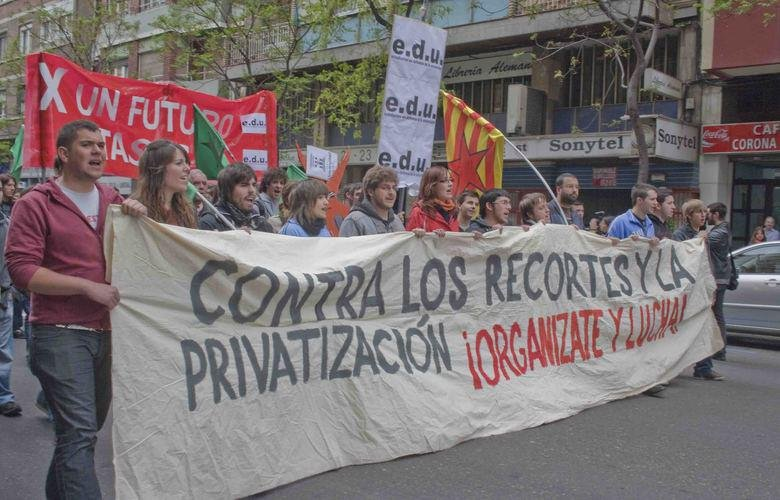 Movilizaciones estudiantiles en Aragón