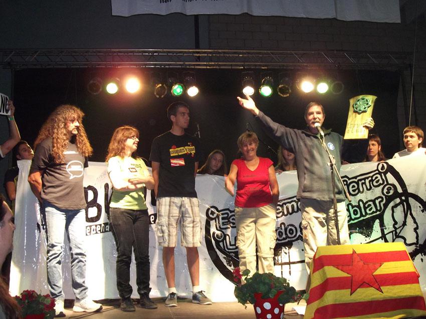 La Plataforma Jalón Vivo premiada en el Festival Esfendemos a Tierra