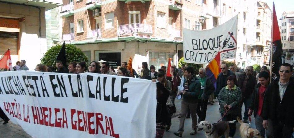 """El Bloque Crítico de Teruel reclama """"Pan, techo, trabajo y dignidad"""""""