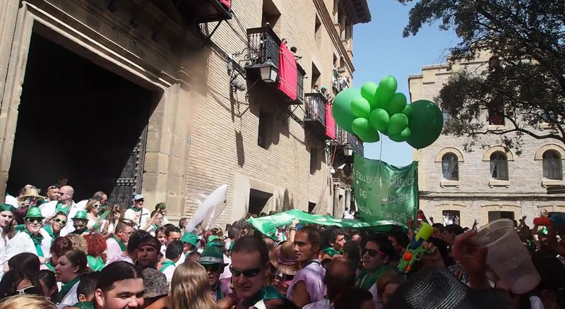 Las fiestas de San Lorenzo comienzan reivindicativas