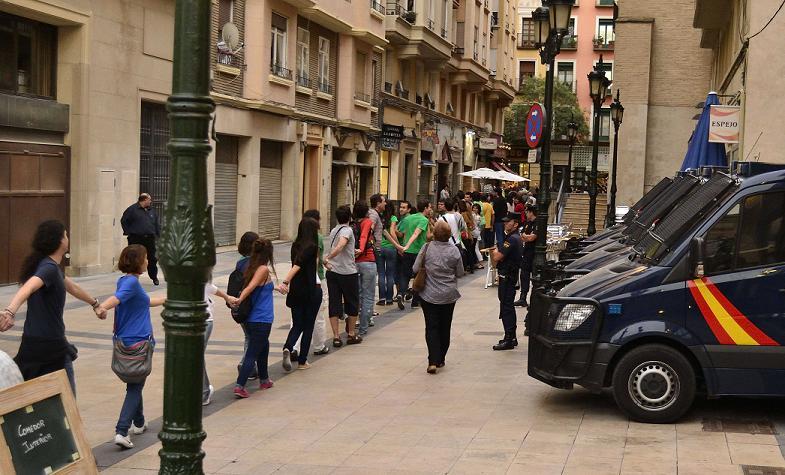Aragón ha estado presente en el 25S. La Policía española carga en el Congreso, varios detenidos y heridos