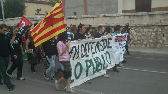 11×12: Valoración de la jornada de huelga estudiantil en Aragón