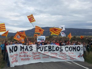 Artieda un pueblo que lucha contra el pantano de Yesa. Foto: Valentín Cazaña