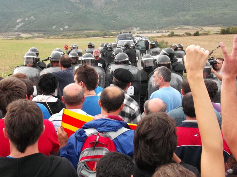[Actualizado] Respuesta de la izquierda aragonesa ante la violencia estatal en Artieda