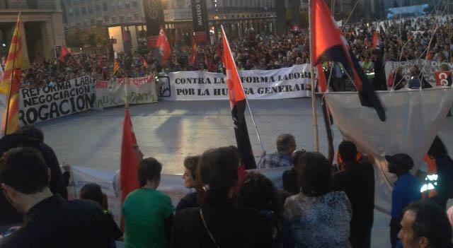 Charla sindical en Sariñena con CGT, CNT y SOA
