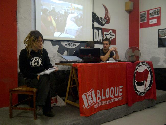 Aturando Yesa y la solidaridad con Artieda inauguran las jornadas Noviembre Antifaixista 2012