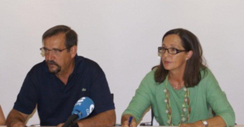 Foto: Rueda de prensa del Comité de empresa de Atades
