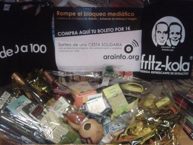 Apoya a AraInfo y participa en el sorteo de su cesta solidaria