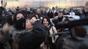 Alfon a la salida de la prisión de Soto del Real. Foto: @fanetin