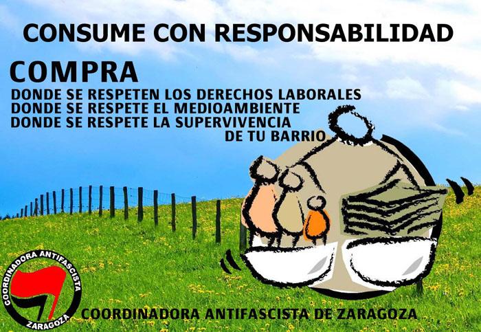 Carteles xenófobos en comercios de Zaragoza