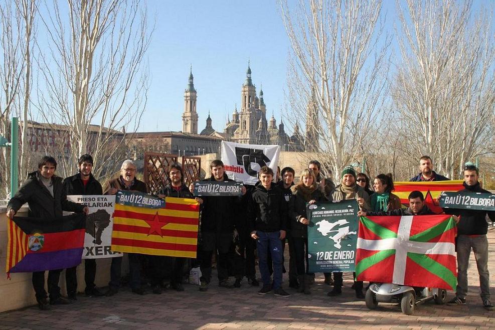 La Coordinadora por el diálogo y la negociación de Aragón muestra su solidaridad con Euskal Herria