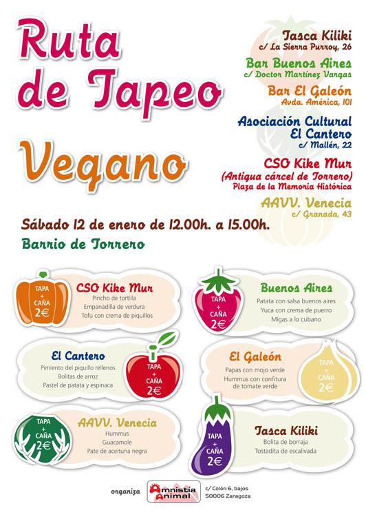 Ruta de tapeo vegano en el barrio de Torrero
