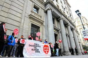 Recorrido por el centro de Zaragoza. Foto: Stop Desahucios