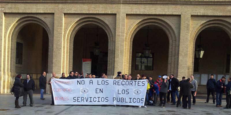 Jornada reivindicativa de la Plataforma de las Contratas Municipales