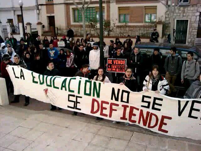Seguimiento de un 60% en los dos primeros días de huelga estudiantil en Teruel