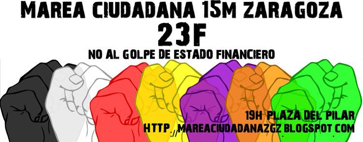 La Asamblea 15M de Zaragoza impulsa la creación de la Marea Ciudadana Unida contra los recortes