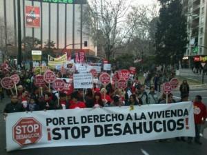 Cabecera de la manifestación de Zaragoza. Foto: Pablo Ibañez (AraInfo)