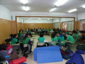 Encierro en el IES Francés de Aranda. Foto: Asamblea Estudiantes de Teruel