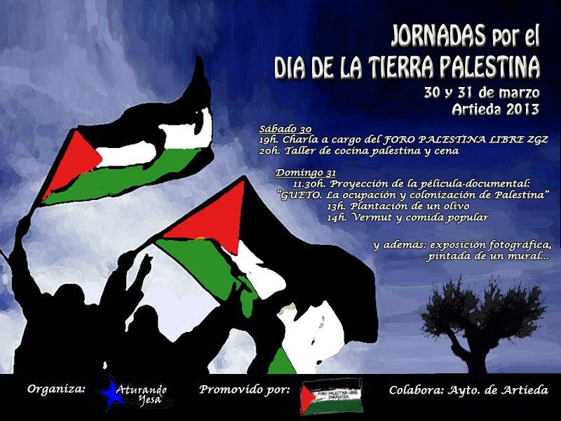 """Jornadas por el """"Día de la Tierra Palestina"""" en Artieda"""