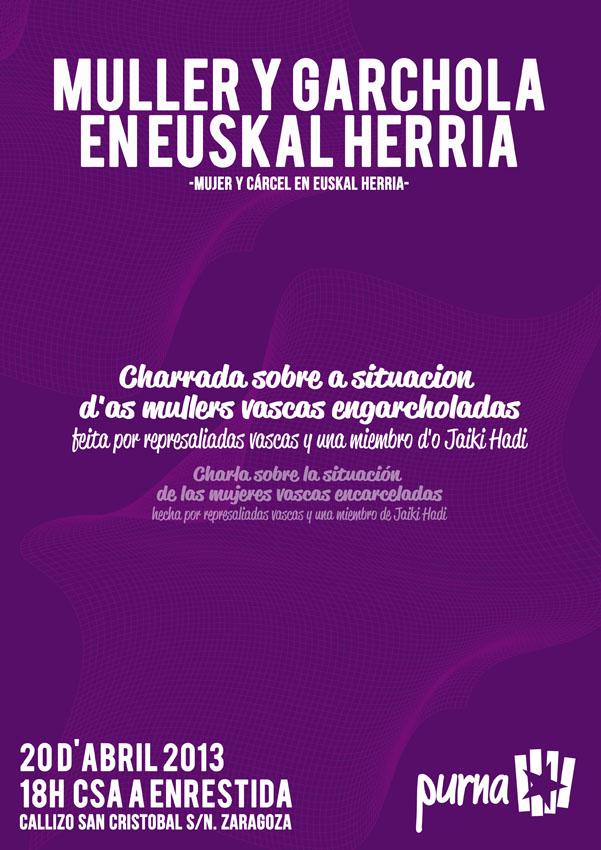"""Charrada: """"Muller y garchola en Euskal Herria"""""""