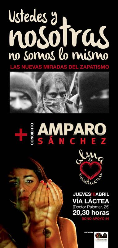 Amparo Sánchez (ex-Amparanoia) en concierto con Caracol Zaragoza