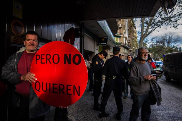 El gobierno del Estado español abre expediente sancionador a 51 activistas del escrache a Eloy Suárez