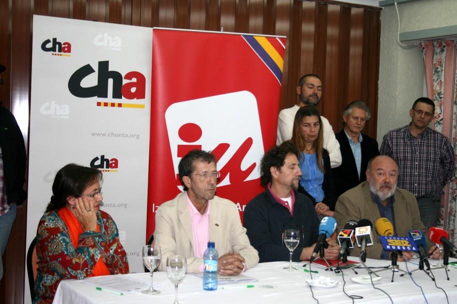 CHA e IU suman fuerzas en Uesca en defensa de la Autonomía municipal