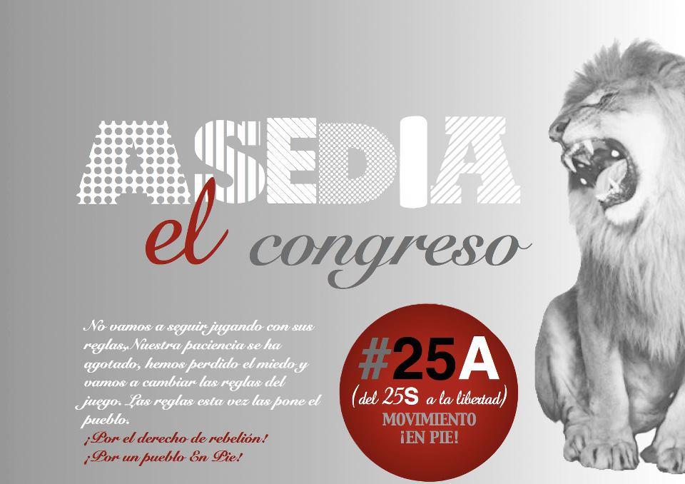 Puyalón muestra su apoyo a la convocatoria del 25A 'Asedia el Congreso'