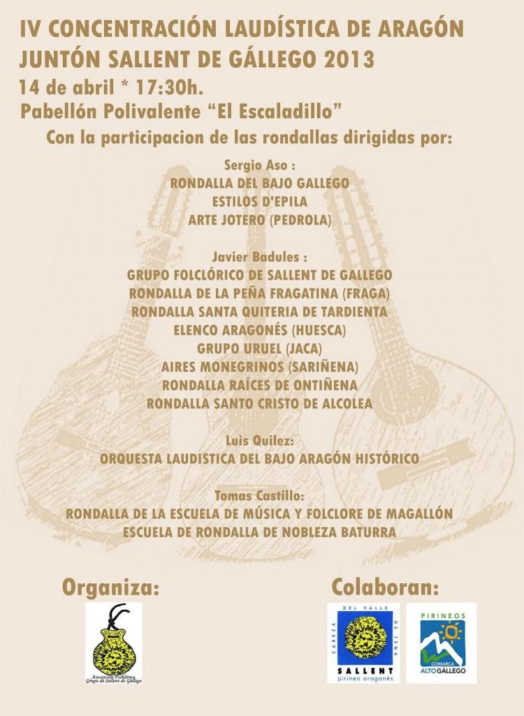 Sallent de Galligo acogerá el 4º Juntón laudístico de Aragón