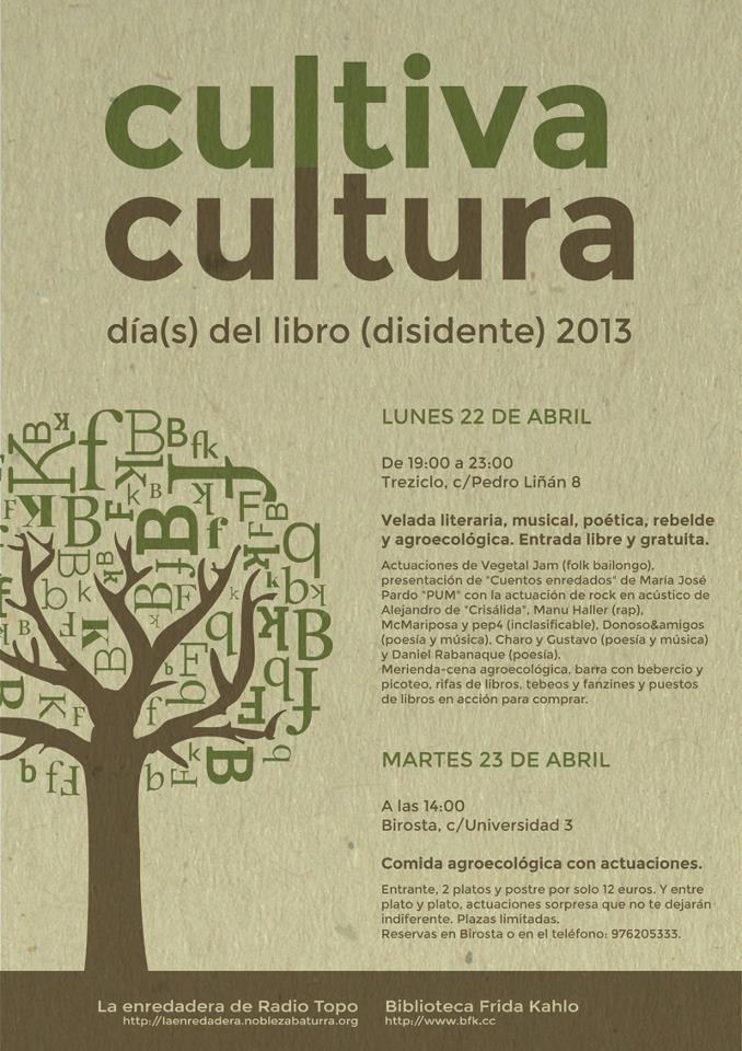 Cultiva Cultura: Día(s) del Libro Disidente 2013