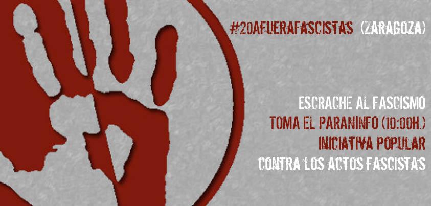 Convocan un escrache contra el fascismo en Zaragoza