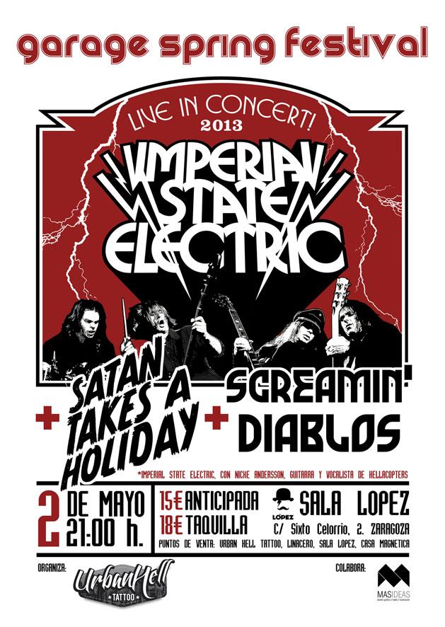 Imperial State Electric y Satan Takes a Holiday: Lo mejor de la escena punkrock escandinava este jueves en Zaragoza