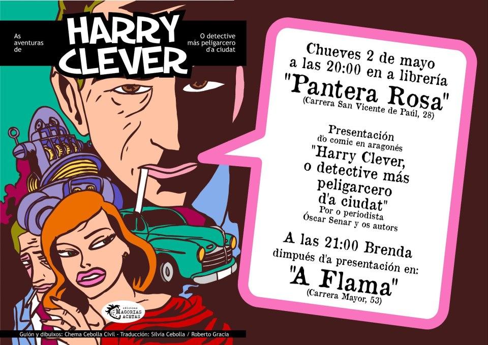 "Presentación d'o comic en aragonés: ""Harry Clever, o detective mas peligarcero d'a ciudat"""