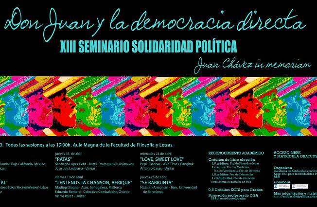 Comienza en Zaragoza el  XIII Seminario de Solidaridad Política