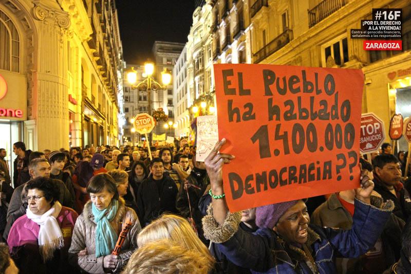 Stop Desahucios Zaragoza convoca una jornada de escrache para apoyar la ILP