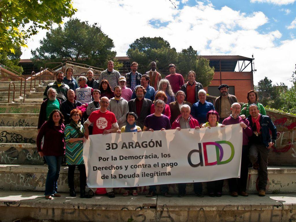 Presentación de 3D Aragón: convención por la Democracia, los Derechos y contra el pago de la Deuda ilegítima