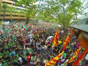 9 de mayo de 2013.- Huelga educatica. Foto: Marea Verde