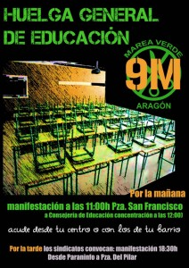 Huelga General Educacion 9 mayo 2013