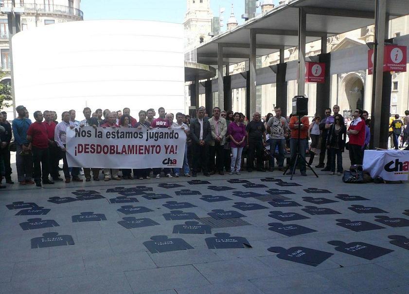 La alcaldesa de Pina de Ebro reclama a Fomento que actúe para paliar el «goteo incesante de accidentes» en la N-II