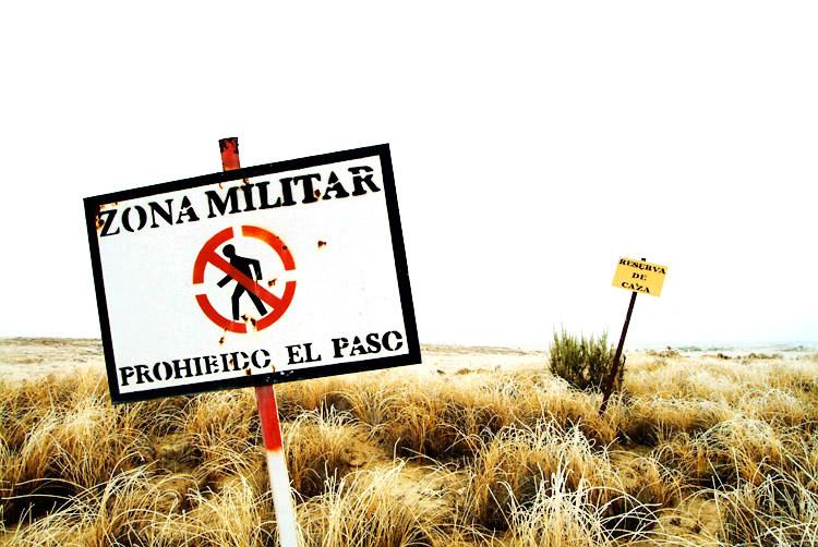 IU y CHA vuelven a exigir el desmantelamiento del polígono de tiro de Las Bardenas