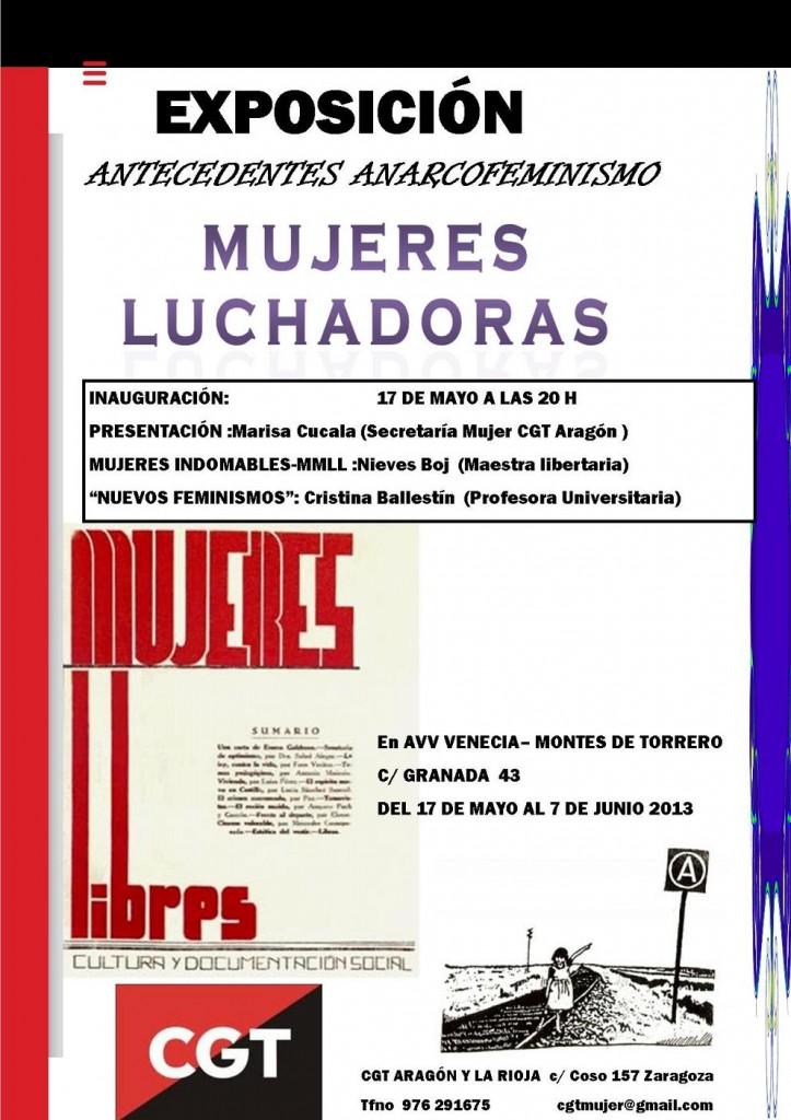 "Inauguración en Zaragoza de la exposición, ""Antecedentes del Anarcofeminismo: Mujeres Luchadoras"""