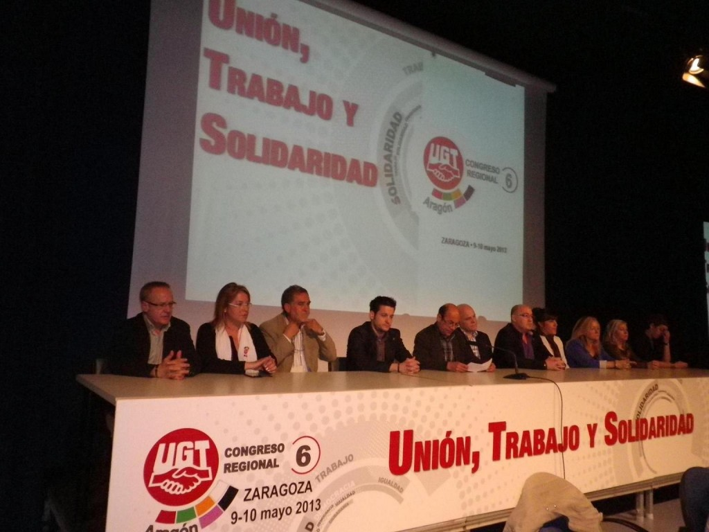 Alastuey provoca un falso conflicto de representatividad entre UGT Aragón y los movimientos ciudadanos aragoneses