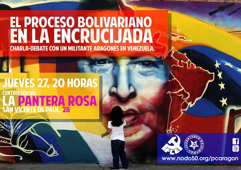 """""""El proceso bolivariano en la encrucijada"""" charla con Javier Sánchez en La Pantera Rossa"""
