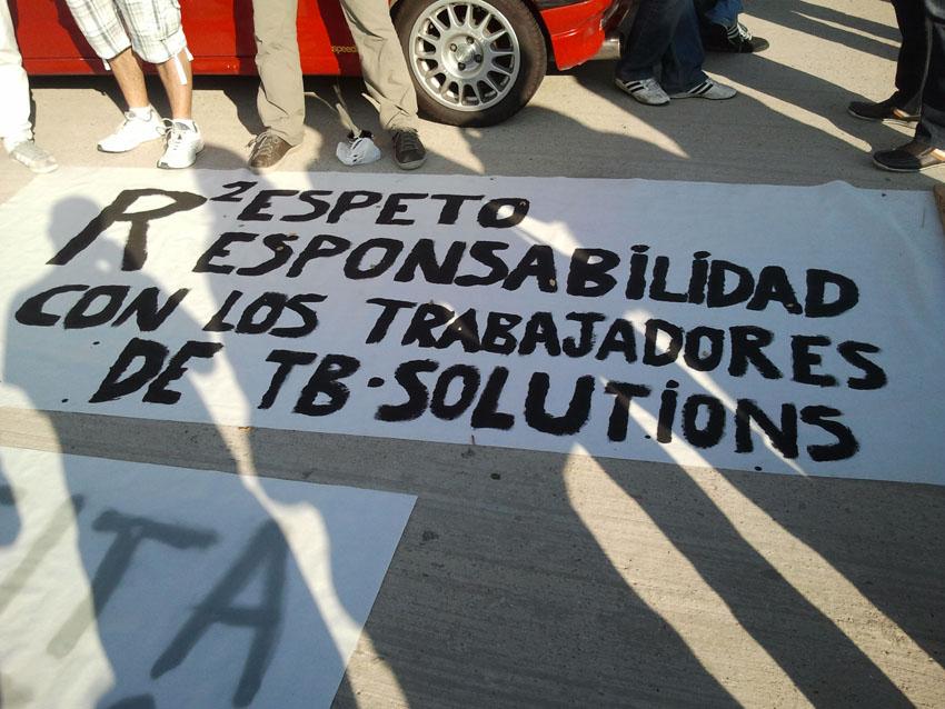 La asamblea de trabajadores de TB-Solutions decide continuar la huelga al menos dos días más