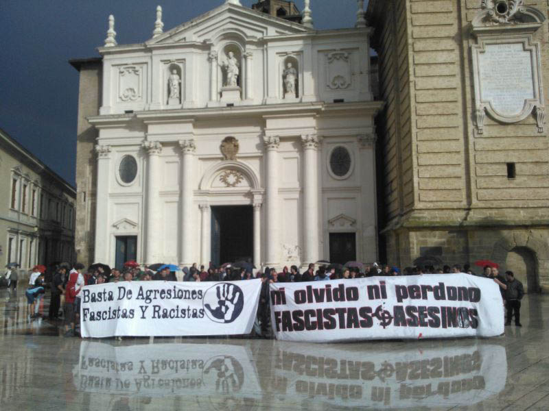 Zaragoza y Chaca muestran su rabia por el asesinato de Clément Méric a manos de un neonazi