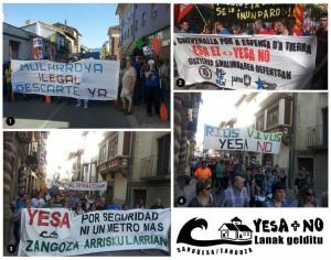 Zangoza, 15 de junio de 2013. Fotos 1, 3 y 4 de Coagret / Foto 2 de Martxelo Díaz (Naiz)