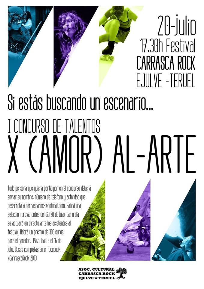 """El Festival Carrasca Rock organiza el concurso de talentos """"x(amor) al arte"""""""