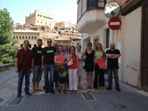 El equipo y los asistentes en Valderroures. Foto: Matarranya Íntim